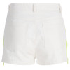 White Summer Patchwork Shorts Ladies Neon Zipper Up High Waist Shorts Womens Casual Skinny Cotton Short Pants Elegant