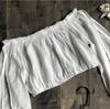 Elegant Off Shoulder Crop Top and Shorts Women Two Pieces Set Casual Low Waist Shorts Female Beach Bikini Suits