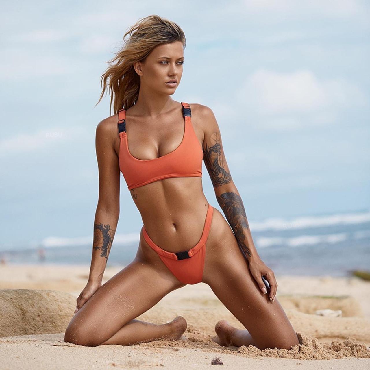 2018 Set Bathing Women Sexy Bain Bikini De Bikinis Swimsuits Suit Femme Maillot Belt Buckle Swimwear O8kPn0w