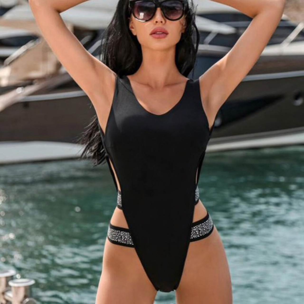 485433dc16 Swimwear Women One Piece Swimsuit Female 2019 Monokini Sexy Thong Solid  Swimming for Women Bathing Suit ...