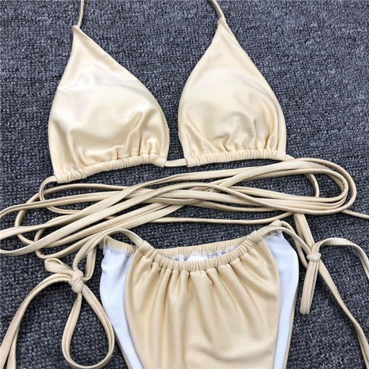 String Micro Bikini Set 2019 New High Cut Brazilian Swimsuit Female Bathers Push Up -1785
