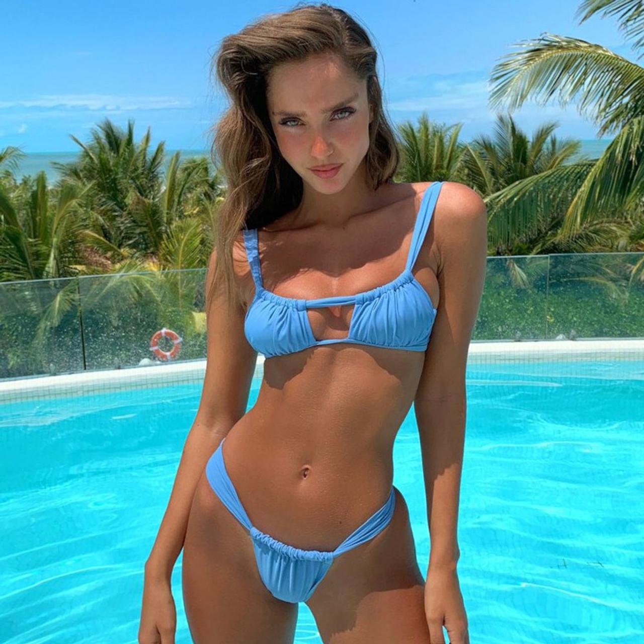 20d14dc17a0ea New Bikini Set 2019 Women Swimsuit Sexy Swimwear Female Striped Thong  Beachwear Summer Bathing Suit Maillot De Bain Biquini Swim
