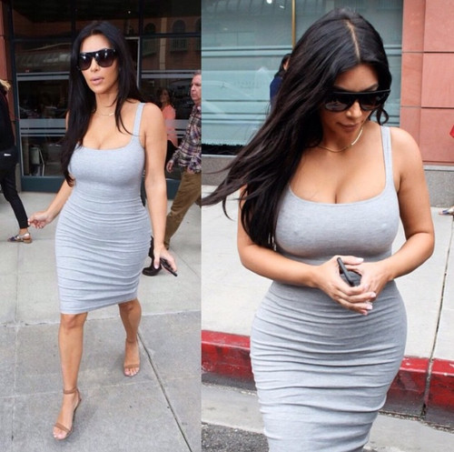 Kim K CRUNCHY Sleeveless DRESS