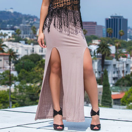 Maxi Boho Skirt With Slit