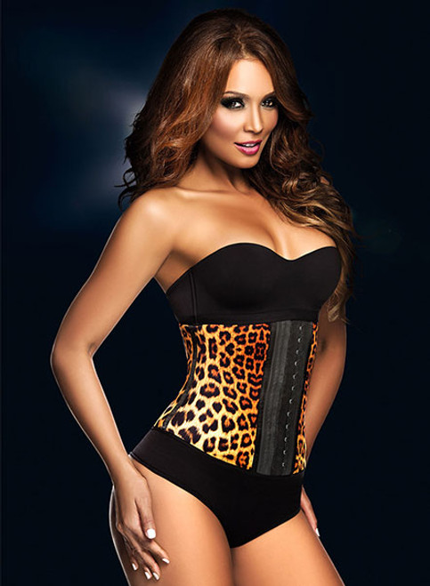 Leopard Long Waist Trainer girdle