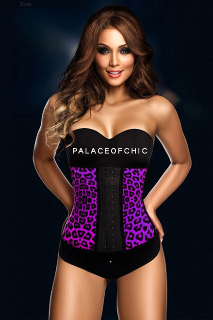 Purple Leopard Long Waist Trainer girdle