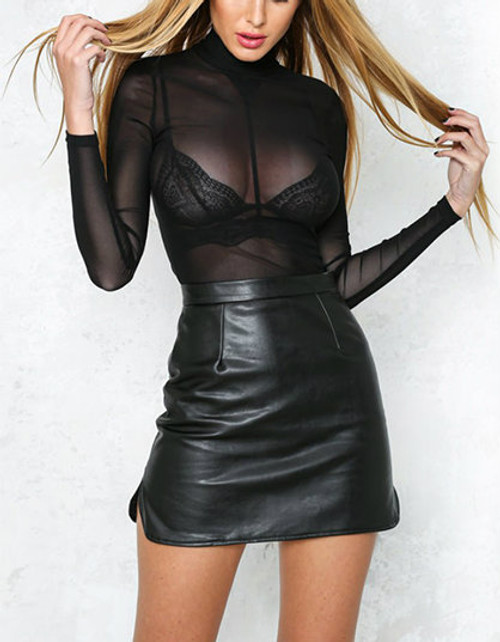 SEXY MESH BLOUSE BLK - PALACEOFCHIC