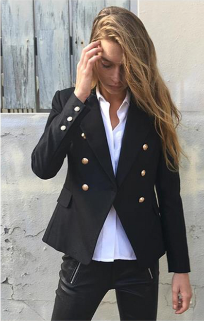SO CHIC BLAZER BLACK - PALACEOFCHIC