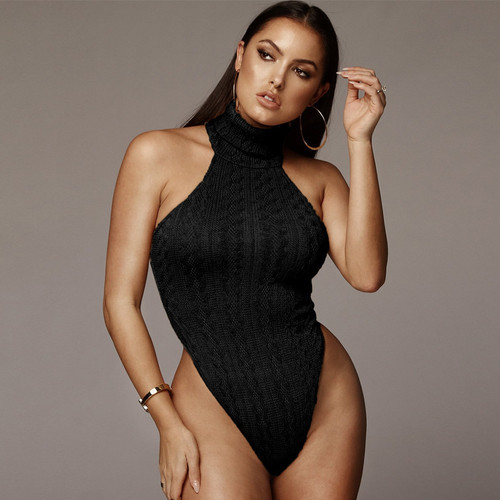 Black Feel Worm Bodysuit