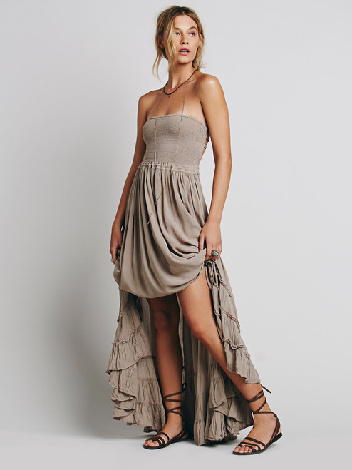 Boho Sleeveless backless Maxi Dress