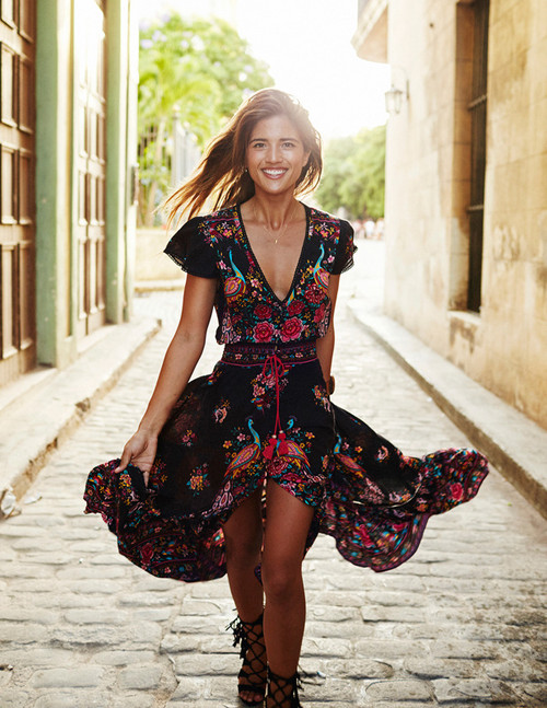 Ethnic Sexy Print Dress - PALACEOFCHIC