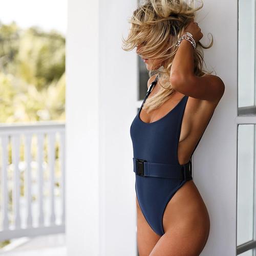 Swimsuit 2018 Swimsuits Bathing Suit Women Sexy Belt Buckle Swimsuit Swimwear One Piece Swimsuit Swimwear Women