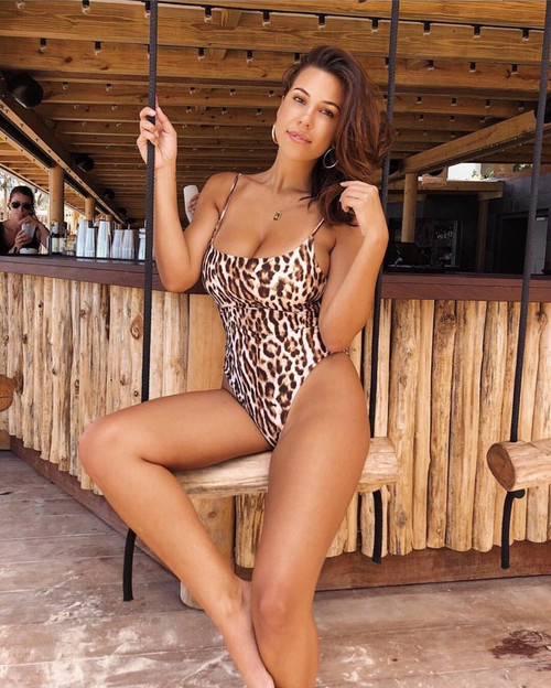 Brazilian bikini leopard print swimsuit 2019 Push up one-piece suits high leg swimwear female Sexy bodysuit summer bathing suit