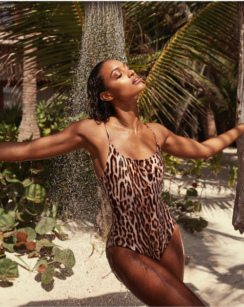 e67484f0730 Brazilian bikini leopard print swimsuit 2019 Push up one-piece suits high  leg swimwear female Sexy ...