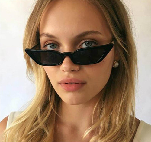 cfaf2e9855c Vintage Sunglasses Women Cat Eye Luxury Brand Designer Sun Glasses Retro  Small Red ladies Sunglass Black ...