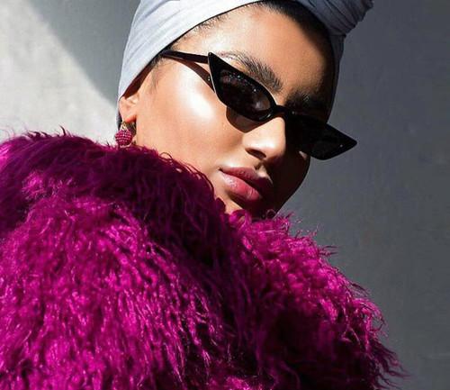 Vintage Sunglasses Women Cat Eye Luxury Brand Designer Sun Glasses Retro Small Red ladies Sunglass Black Eyewear Female Shades