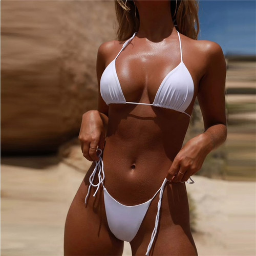 Summer Beach Bikini 2019 Sexy Lace up Swimwear Women Swimsuit Push Up Beachwear Bathing Suit Brazilian Bikini Set Biquini Female