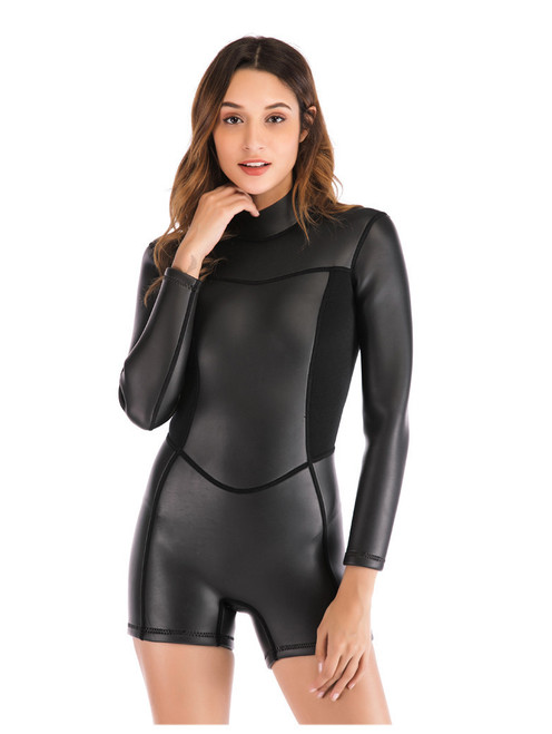 2mm Thickened Long Sleeve Diving Suit Women's Waterproof Mother Suit Snorkeling Suit Winter Swimming Diving Suit