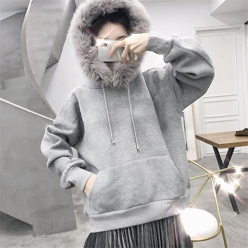 Women Winter Clothes 2019 Pullover Hoodies Women Fashion Warm Fleece Hooded Sweatshirts Casual Tracksuit ariana grande
