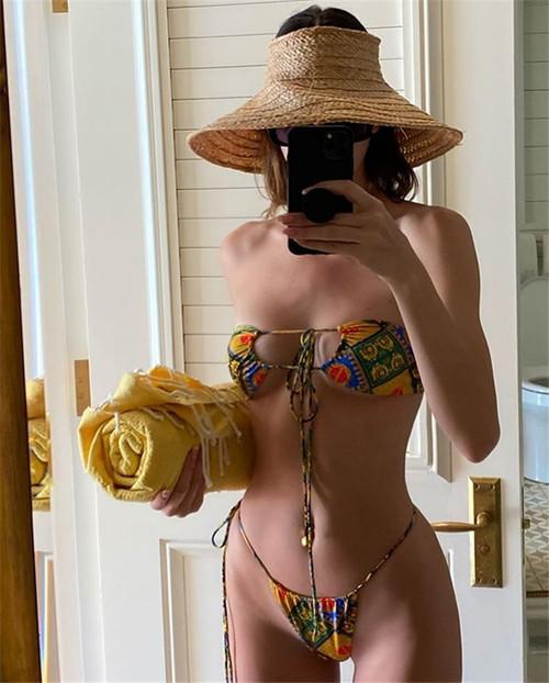 K Jenner bikini summer swim women swimwear bikini set brezilian bikini set women swimsuit