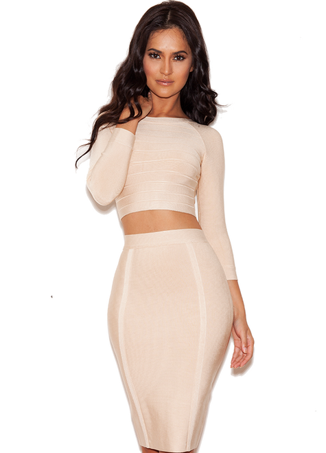 Rodeo Drive two piece Bandage Dress Set Outfit