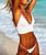2019 Bikinis Women New Sexy Swimwear Swimsuit White Push Up Bikini Bathing Suit Women Pleated Bikini Set Monokini