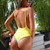 2018 Halter Swimwear One Piece Swimsuit Solid Bathing Suit Women Sexy Piece Swimsuit Halter Monokini Beach Wear