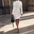 Knitting hollow out white party dress Women turtleneck cotton bodycon dress Female fashion winter sexy dress vestidos