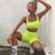 solid Fluorescence color women two pieces sets 2018 new arrival sporting fitness bra crop top elastic waist short leggings