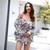 Bohemian Floral Print Ruffles Chiffon Shorts Jumpsuit Rompers Women Long Sleeve Off Shoulder Slash Neck Casual Playsuit