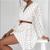 Elegant Polka Dot See Through Chiffon Vintage Dresses Women Spring Summer Long Sleeve Beige Beach Party Sundress