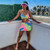 Tie Dye Sexy Two Piece Club Outfits Women Summer Clothes Spaghetti Strap Crop Tops and Mini Skirts 2 Piece Matching Sets
