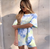 2020 tie dye short sleeve loose baggy top shorts 2 piecess set summer women fashion streetwear T-shirts tracksuit
