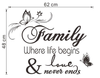 Family...where life begins and love never ends.