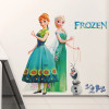 Elsa, Anna & Olaf Example measures 60x58cm.  Completed size will depend on your placement