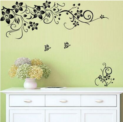 This design is made of quality vinyl and will suit any room in your house.   The example shown measures 56x10cm, and the completed size will depend on your placement  It is a peel & stick design