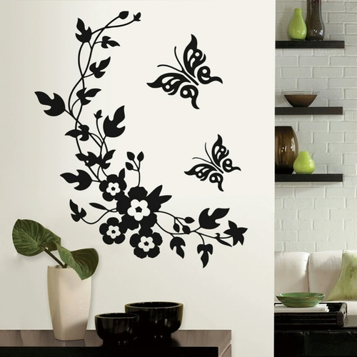 This design is made of quality vinyl and will look great any room of your home.   The example shown measures 28x34cm, but the completed size will depend on your placement  A clear plastic sheet of film (also known as the transfer sheet) is provided with the decal in order to transfer the design from the backing paper to the wall.  It can also be used to store and re-apply your design should you ever have the need to move it.  The images in this design are placed on the backing paper as three individual pieces.