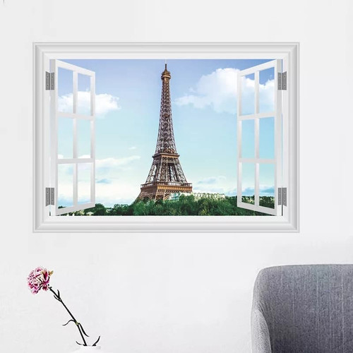 Removable wall sticker.  This design will look fantastic in any room of your home.   Made of quality vinyl, it measures 70x50cm, and is a peel & stick type