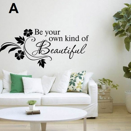 Design A   Removable wall sticker  The example measures 65x31cm but the completed size of each will depend on your placement  It is easily applied peel & stick type