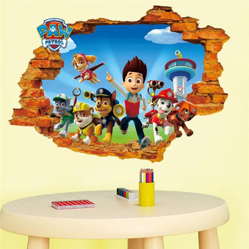 Your little one will love this breakthrough design.  It is a peel and stick design that shows Ryder and the pups crashing through the wall.  It measures 70x50cm