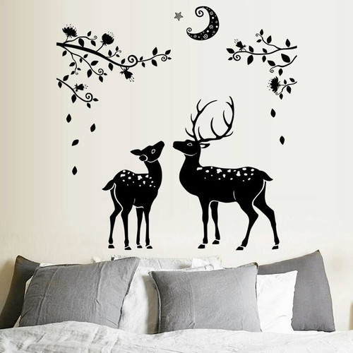 This design is made of quality vinyl and will look fabulous in any room of your home.  The example shown measures an impressive 110x108cm, and the completed size will depend on your placement.  It is a peel & stick type