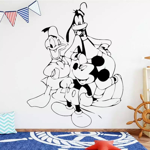 Removable wall decal. This design is made of quality vinyl and will look great in your home.  It measures 58x75cm.