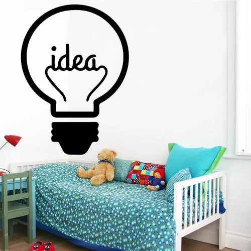 Removable wall decal. This design is made of quality vinyl and will look great in your home.  It measures 43x59cm.