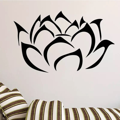 Removable wall decal. This design is made of quality vinyl and will look great in your home.  It measures 58x35cm.