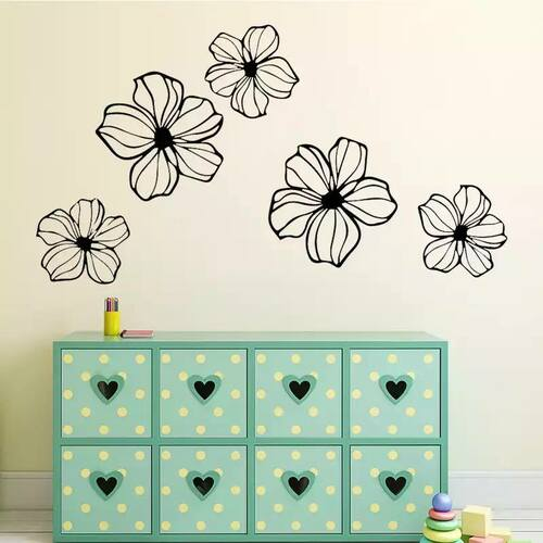 Removable wall decal. This design is made of quality vinyl and will look great in your home.  The design shown measures 30x54cm, and as they are individual pieces your placement choices are unlimited
