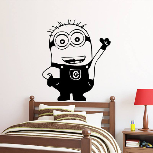 Removable wall decal.  This design is made of quality vinyl and will look great in your home.   It measures 43x51cm.
