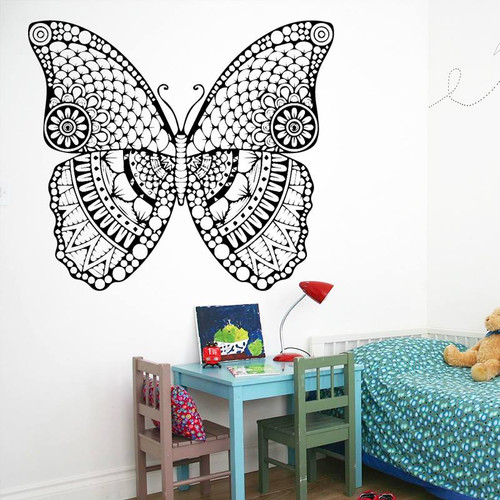 Removable wall decal.  This design is made of quality vinyl and will look great in your home.   It measures 58x51cm.