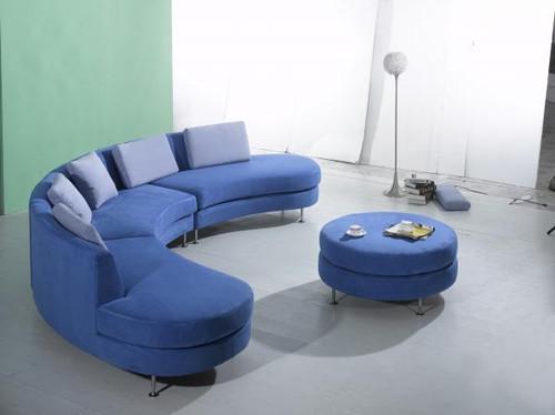 Designer Curved Sectional Sofa – 4 Piece Set