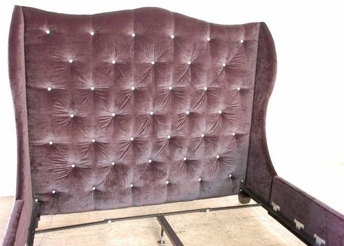 Custom Tufted Wingback Bed frame in Velvet