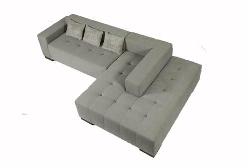 Milano contemporary island sofa with pillows